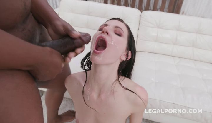 messy cumshot - Lina Arian - Blackened With 4 White Then 4 Black No Pussy. …