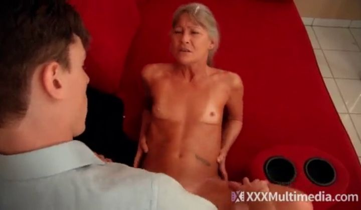 Asian Granny Fucks Boy
